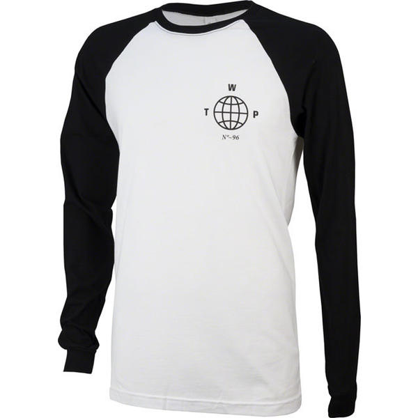 WeThePeople Globe Long Sleeve T-Shirt Color: Black/White