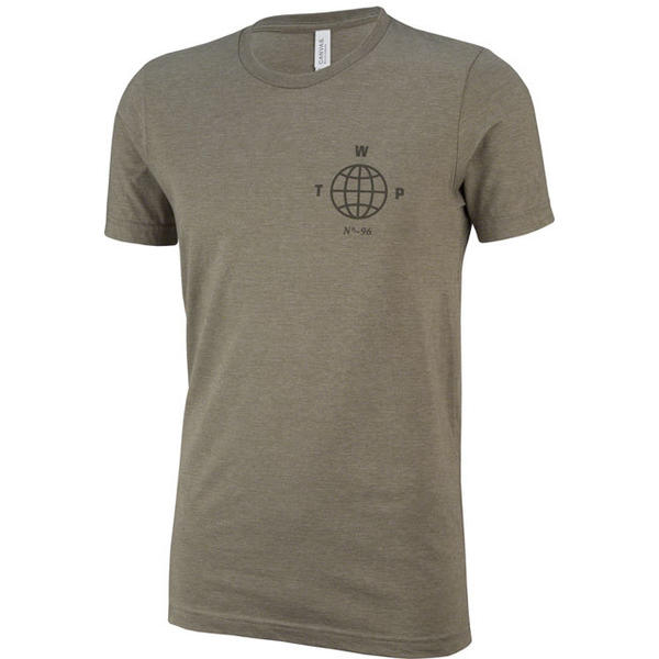 WeThePeople Globe T-Shirt Color: Heather Olive