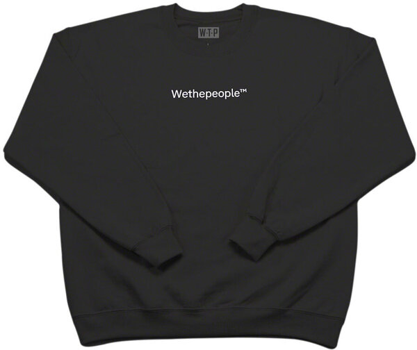 WeThePeople WTP Embroidery Crew Neck Color: Black