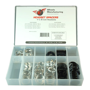 Wheels Manufacturing Inc. 1-1/8-inch Headset Spacer Kit Color: Silver/Black