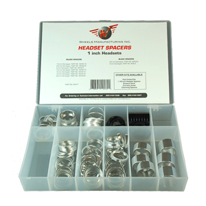Wheels Manufacturing Inc. 1-inch Headset Spacer Kit Color: Silver/Black