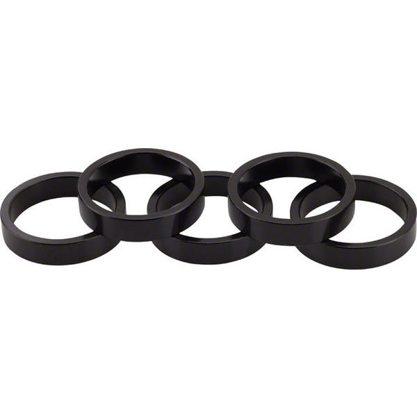 Wheels Manufacturing Inc. Aluminum Headset Spacer Color | Size | Steerer Diameter: Black | 7.5mm | 1 1/8-inch