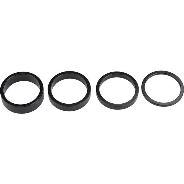 Wheels Manufacturing Inc. Aluminum Headset Spacer Set Color: Black