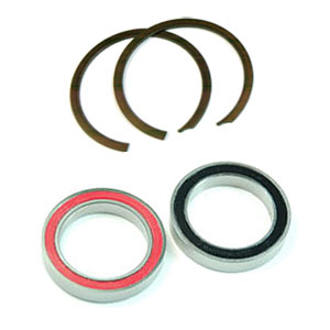Wheels Manufacturing Inc. BB30 Angular Contact Bearing & Clip Kit Color: Silver