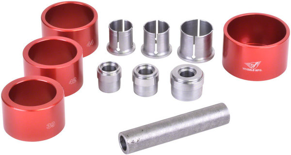 Wheels Manufacturing Inc. Bottom Bracket Sealed Bearing Extractor Set Color: Silver/Red