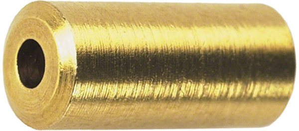 Wheels Manufacturing Inc. Brass Cable Housing Ferrules: Bottle of 50 Color: Brass