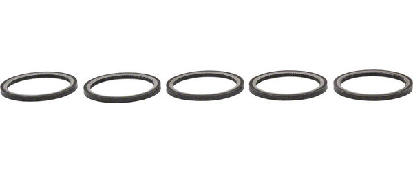 Wheels Manufacturing Inc. Carbon Fiber Headset Spacer 1-1/8-inch x 2.5mm Bag of 5