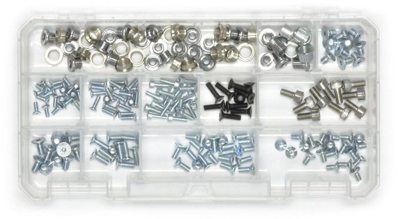 Wheels Manufacturing Inc. Derailleur Hanger Fastener Assortment Color: Silver/Black