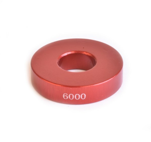 Wheels Manufacturing Inc. Over Axle Adapter Color | Length | Model: Red | 6mm | 6000
