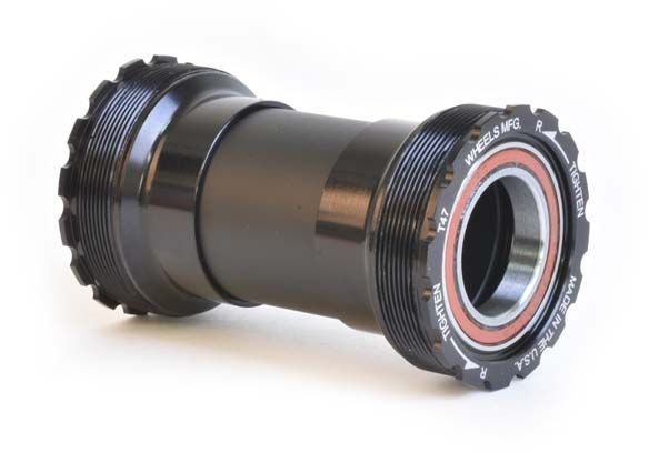 Wheels Manufacturing Inc. T47 Angular Contact Bottom Bracket for 24mm (Shimano) Spindles Color | Model | Spindle | Width: Black | T47 | 24mm (Shimano) | 68 – 132mm