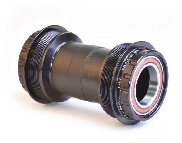 Wheels Manufacturing Inc. T47 Outboard Angular Contact Bottom Bracket for 24mm Shimano Spindles Color | Model | Spindle | Width: Black | T47 | 24mm (Shimano) | 68 – 100mm