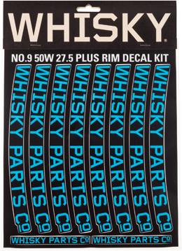 Whisky Parts Co. 50w Rim Decal Kit Color: Cyan