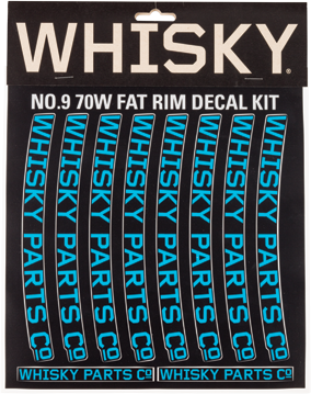 Whisky Parts Co. 70w Rim Decal Kit Color: Cyan