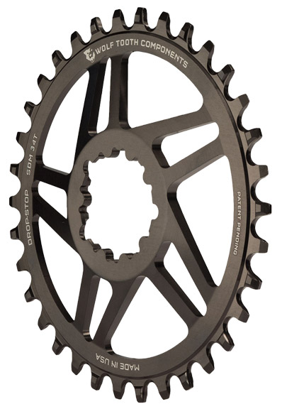 Wolf Tooth Components 5-Spoke GXP Direct Mount Ring Color: Black