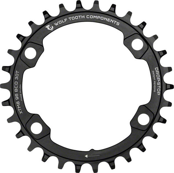 Wolf Tooth Components Drop-Stop 36T Chainring for Shimano Color: Black