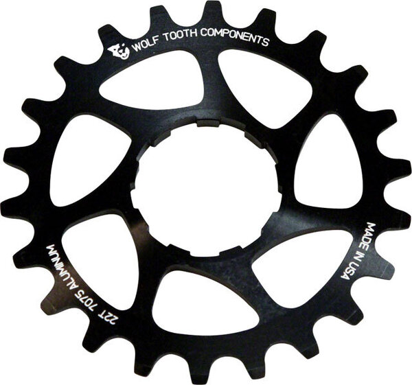 Wolf Tooth Components Alloy Singlespeed Cog Color: Black