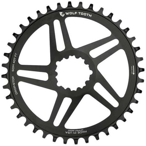 Wolf Tooth Components Direct Mount Boost Chainrings for SRAM Color: Black
