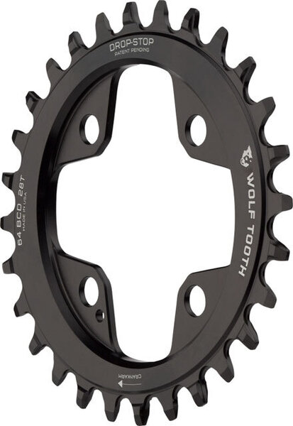 Wolf Tooth Components Elliptical 64 BCD Chainrings Color: Black
