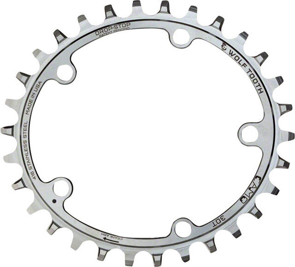 Wolf Tooth Components Elliptical CAMO Stainless Chainrings