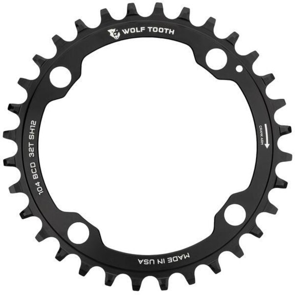 Wolf Tooth Components Shimano 104 BCD Chainring Color: Black