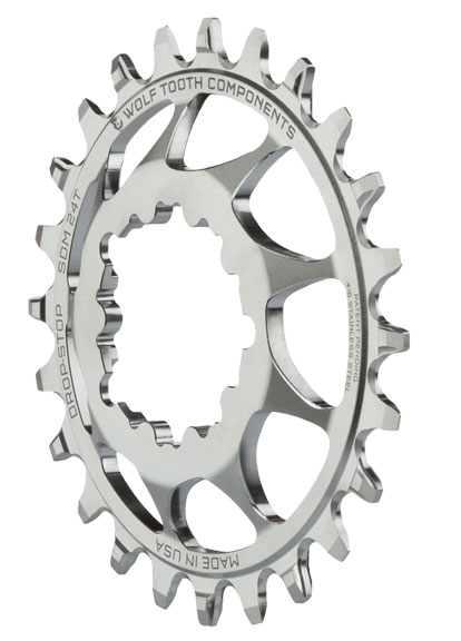 Wolf Tooth Components Direct Mount Stainless Steel for SRAM Cranks Color: Silver