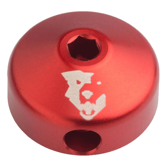 Wolf Tooth Components Lo-Pro Shock Knob Color: red
