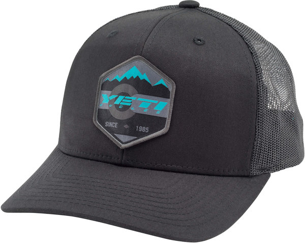 Yeti Cycles Mountain Patch Trucker Hat Color: Black
