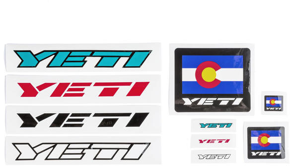 Yeti Cycles Sticker Pack Assorted Procycing