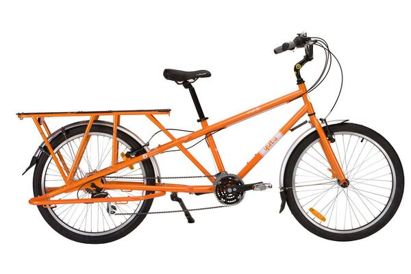 Yuba Mundo 21-Speed V3.0 Disc (w/Sidestand Kickstand) Color: Tangerine Orange