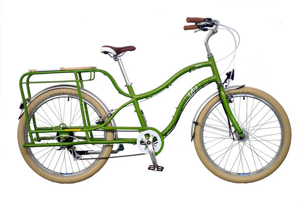 Yuba Boda Boda Lux ST Cargo Bike Color: Green