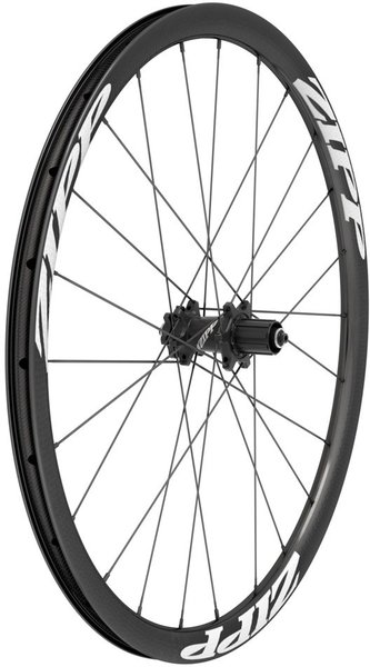 Zipp 202 Firecrest Carbon Clincher Tubeless Disc Brake 700c Rear Color: Black w/White Decals