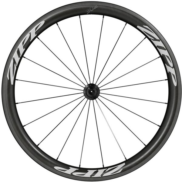 Zipp 302 Carbon Clincher Rim-Brake Front Wheel Color: Black w/White Decal