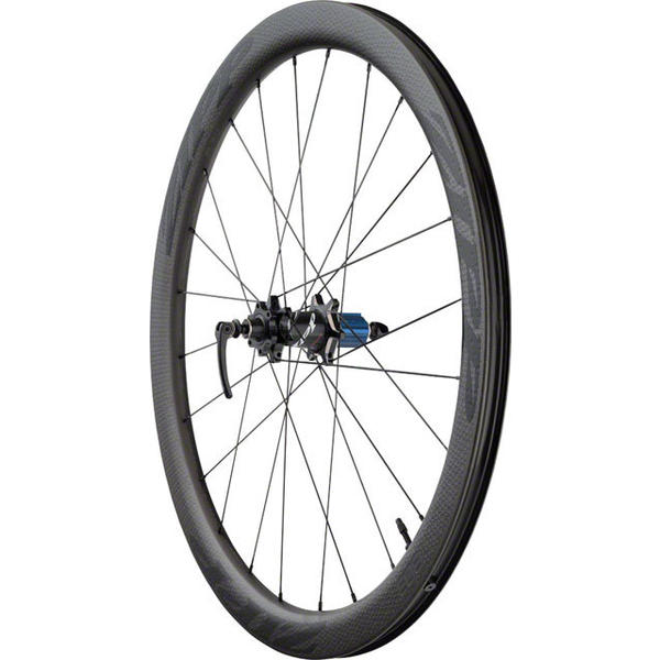 Zipp 303 Firecrest Carbon Clincher Tubeless Disc Brake 700c Rear Color: Black w/Black Decal
