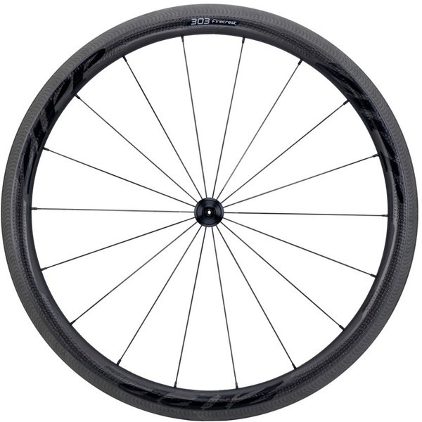 Zipp 303 Firecrest Carbon Clincher Rim-Brake Front Wheel Color: Black