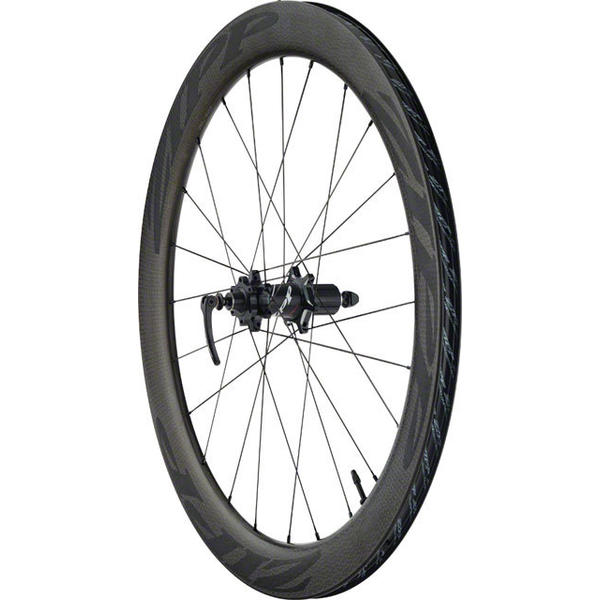 Zipp 404 Firecrest Carbon Clincher Tubeless Disc Brake 700c Rear Color: Black w/Black Decal