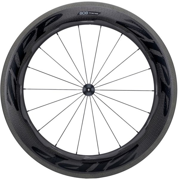 Zipp 808 Firecrest Carbon Clincher Rim-Brake Front Wheel Color: Black