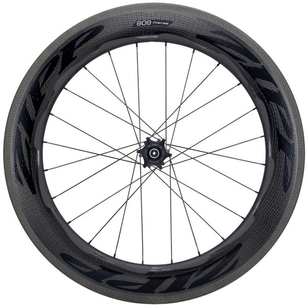 Zipp 808 Firecrest Carbon Clincher Rim-Brake Rear Wheel Color: Black