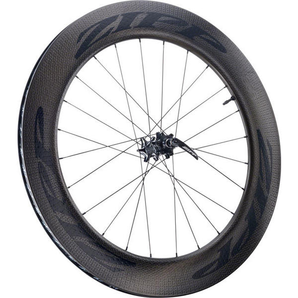Zipp 808 Firecrest Carbon Clincher Tubeless Disc Brake 700c Front Axle | Cassette Compatibility | Color | Size: QR | N/A | Black w/Black Decal | 700c