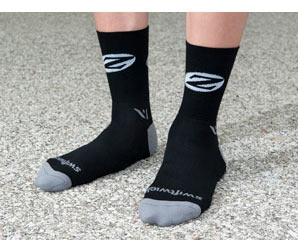 Zipp Socks 5-inch Cuffs Color: Black/Gray
