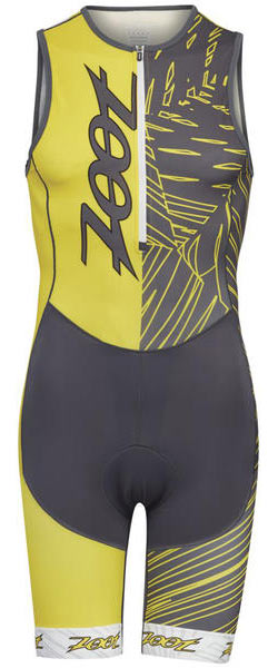 Zoot Performance Tri Team Racesuit Color: Pewter/Sub Atomic Yellow