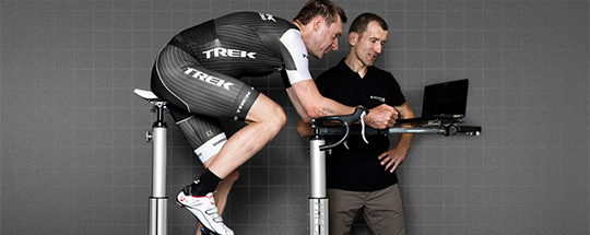 Calibrated by Bontrager. Jens getting fit.