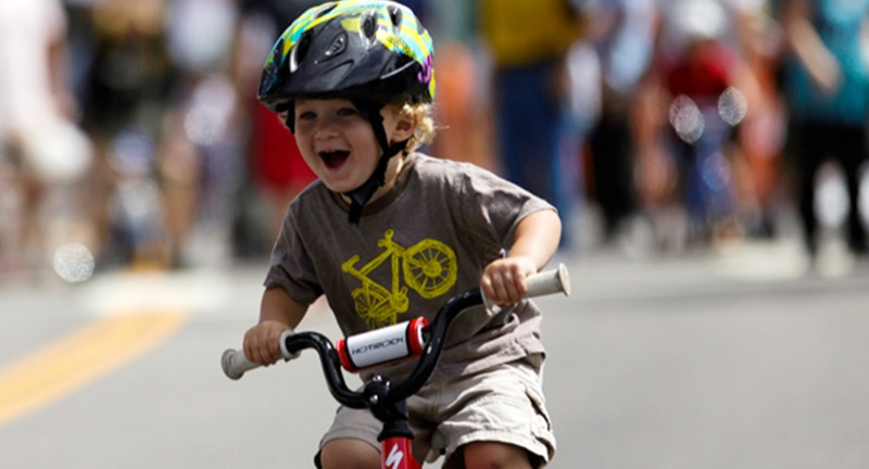 Toddler on a push bike