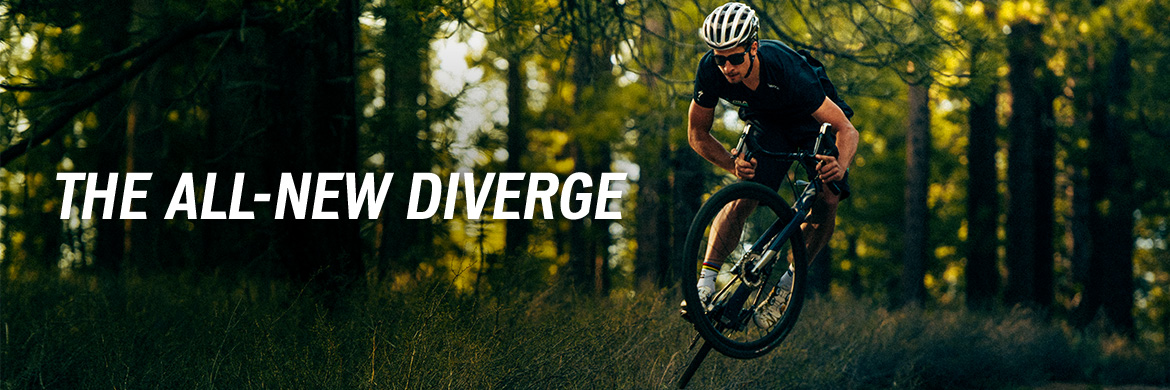 The Specialized Diverge is an endurance bike maximized for every surface