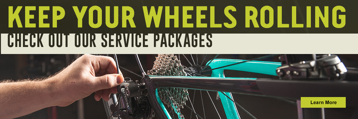 Keep your wheels rolling! Check out South Lyon Cycle's Service packages.