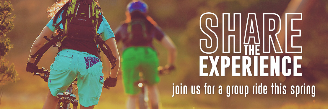 Share the experience. Join us for a group ride
