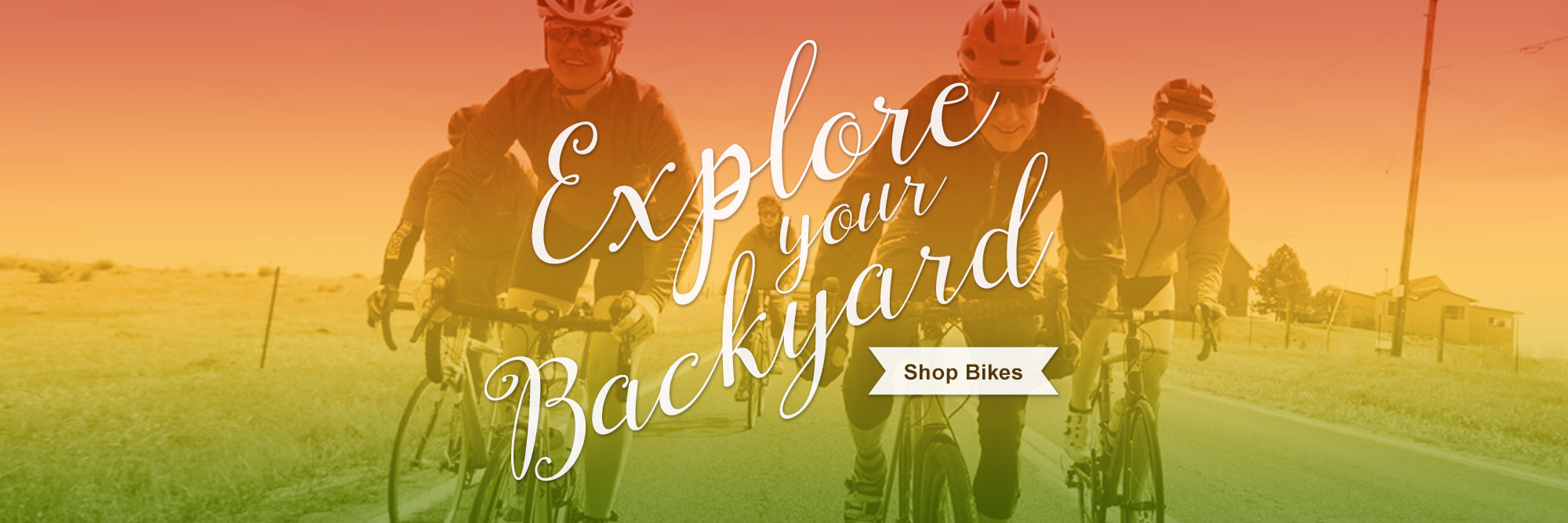 Explore your backyard on a new bike!
