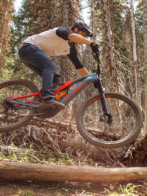 Man on mountain bike