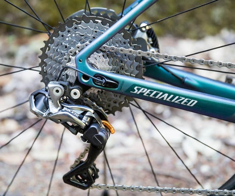 Specialized Diverge chain cogs and rear derailleur