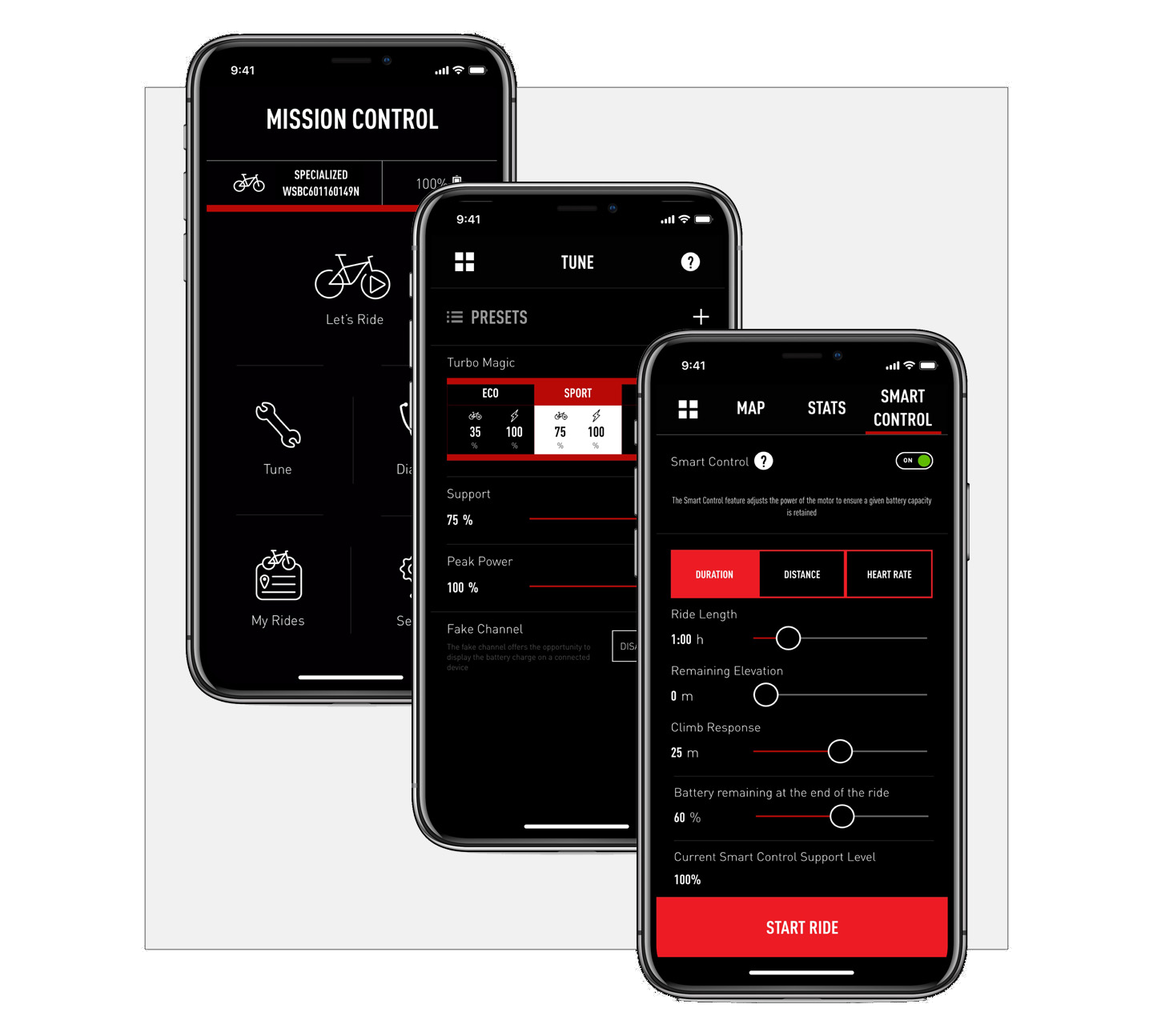 Specialized Mission Control app