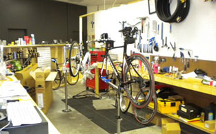 Our service department handles everything from flat tires to custom bicycle builds!